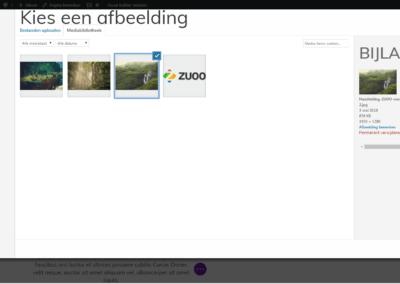 ZUOO-Handleiding-visuele bouwer-afbeelding selecteren
